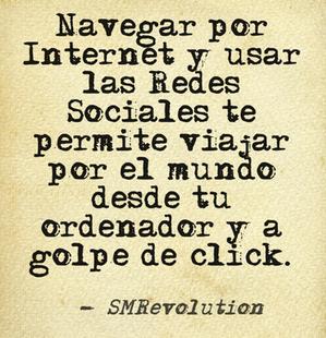 Estar en Redes Sociales es como viajar constantemente