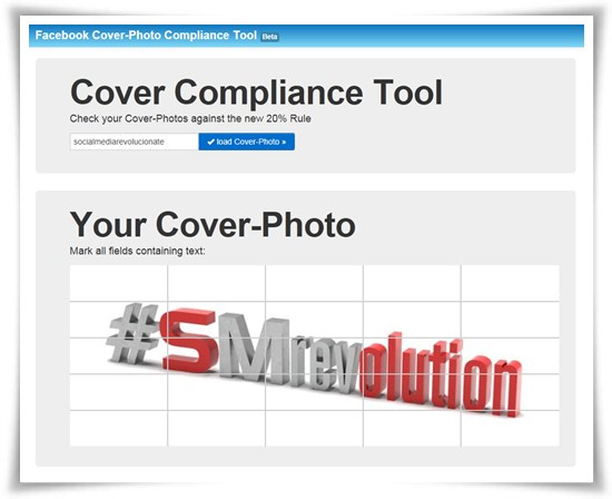 Cover Compliance Tool: Check your Cover-Photos against the new 20% Rule