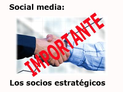 los socios estratégicos en el social media