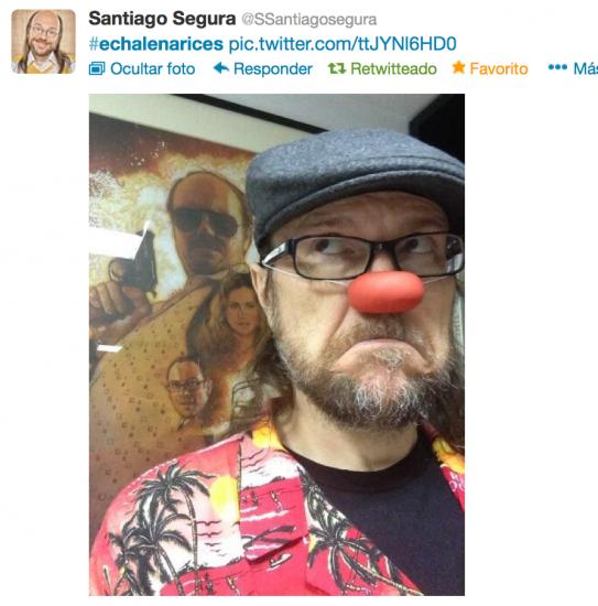 Tuit de Santiago Segura para Echalenarices