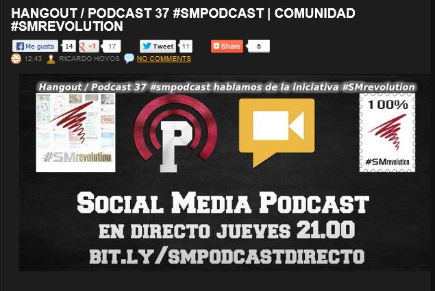 Resumen Hangout #SMpodcast y #SMrevolution. #SMPodcastvolution
