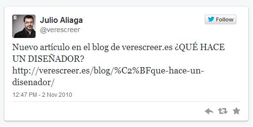 ¿Cuál fue mi primer Tweet? Julio Aliaga