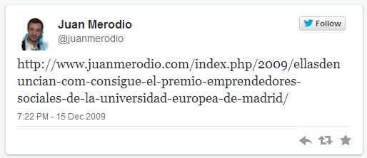 ¿Cuál fue mi primer Tweet? Juan Merodio